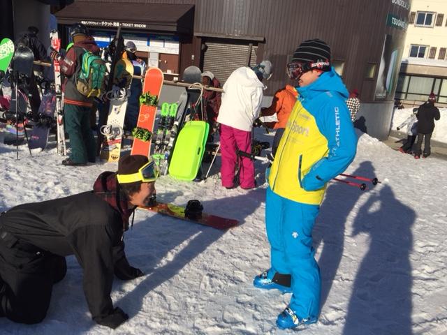 スキーヤー勝利