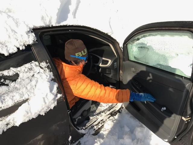 車の除雪完了