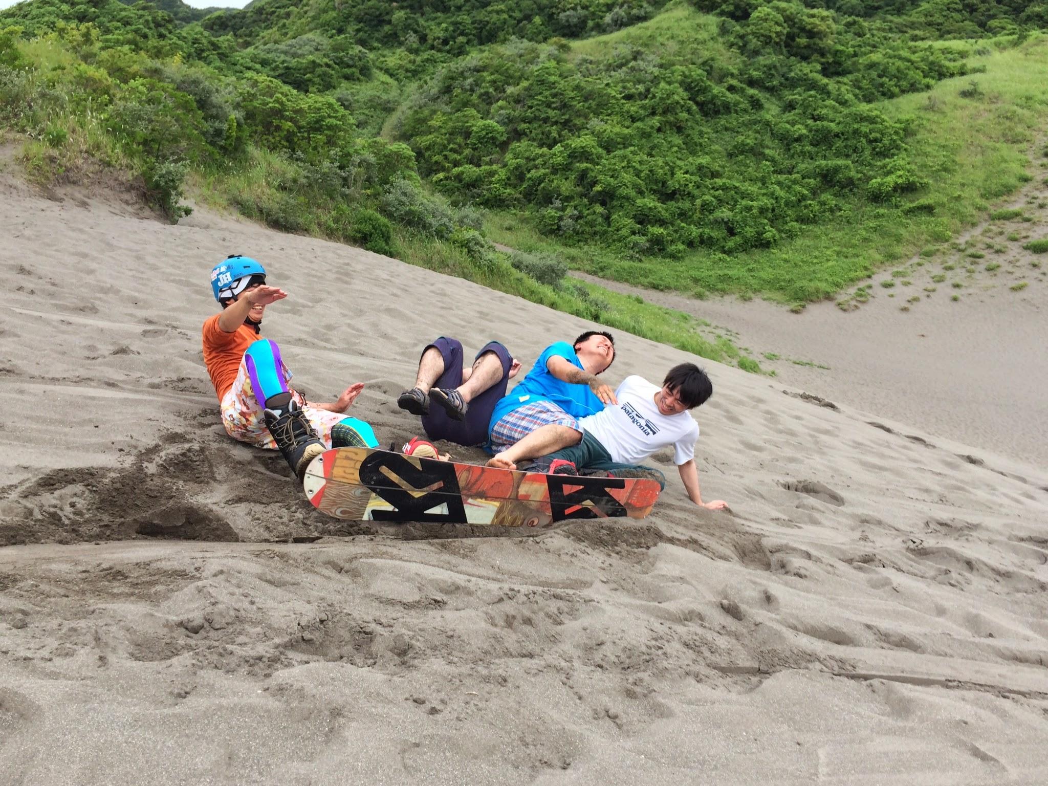 砂山スノーボードで滑れない