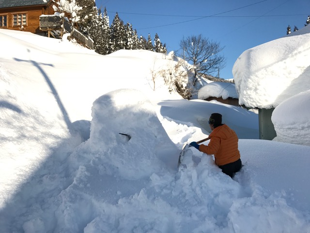 スノーボード雪除雪