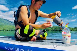 湖でSUPサップ
